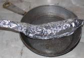 фольге на сковороде