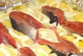 горбуша и картофель
