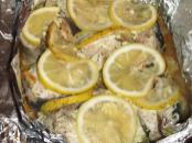 запеченная в духовке с лимоном