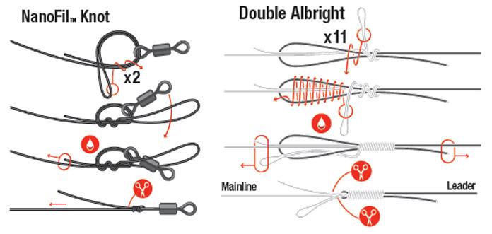 как правильно привязать поводок к плетеной леске