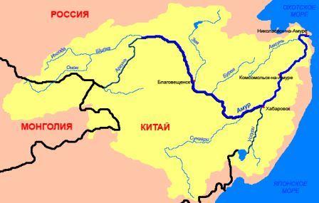 Амур на карте России