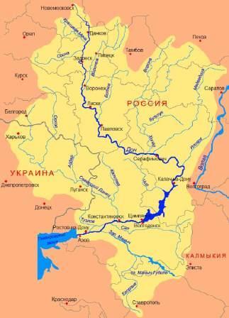 Дон на карте России
