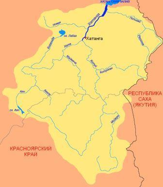 Хатанга на карте России