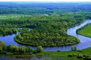 вид на реку сверху