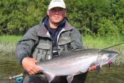 рыбак с кетой