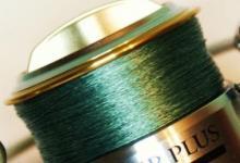 шпуля с намотанной плетенкой