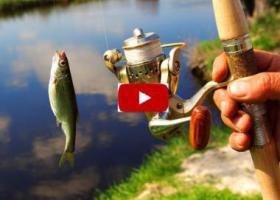 река рыбка удочка катушка кнопка видео