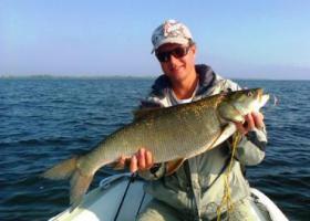 рыбак с жерехом в руках