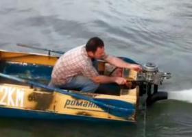 лодка с водомётом