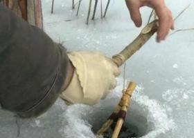 установка зимней жерлицы на щуку