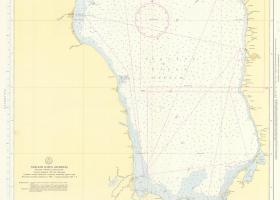 Карта Чудского озера