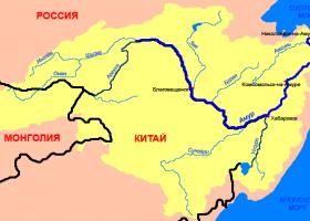 река Амур на карте России