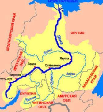 Лена на карте России