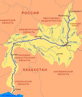 Урал на карте России